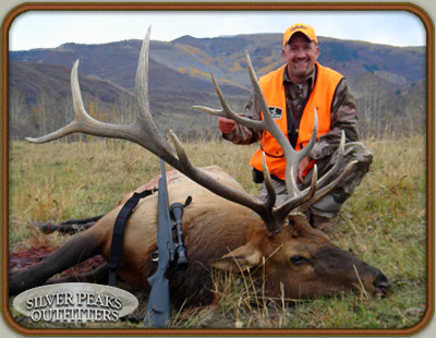 Gyno with his very impressive 6x6 Bull taken with Silver Peaks Outfitters of SW Colorado