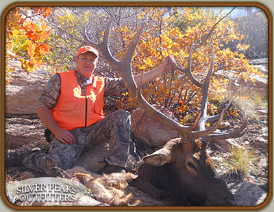 Wally's first Bull Elk is a real trophy wall-hanger